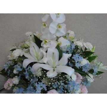 <フジテレビフラワーネット> 当店一押し・葬儀用供花です。(洋花)画像