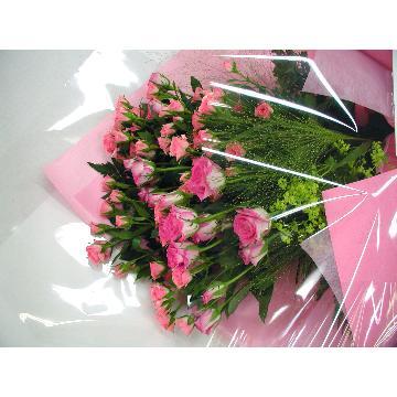 <フジテレビフラワーネット> 優しげピンクの花束画像