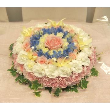 <フジテレビフラワーネット> ほわほわパステルカラーのケーキ画像