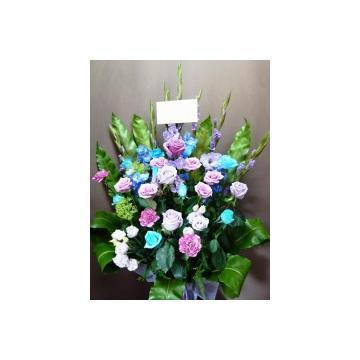 <フジテレビフラワーネット> 色の芸術 ラベンダーと水色のバラの美しさ!画像