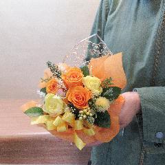 プリザーブドフラワー★ハート型ジュエリーボックスアレンジ(イエロー)