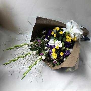 <フジテレビフラワーネット> お悔み・お彼岸に【お供え花束・あかり】画像