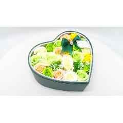 シャボンフラワーハートパールBOX/イエロー&オレンジ