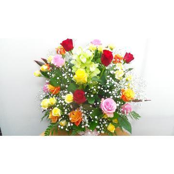 <フジテレビフラワーネット> バラの御祝アレンジメント画像