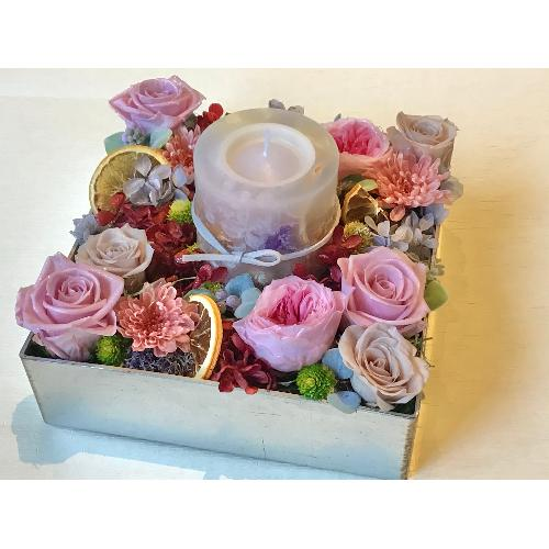 バラのキャンドルBOX「Rose Garden meets Botanical Candle」2