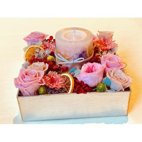 バラのキャンドルBOX「Rose Garden meets Botanical Candle」3