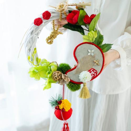 竹内美稀氏制作 お正月飾り「吉祥リース」