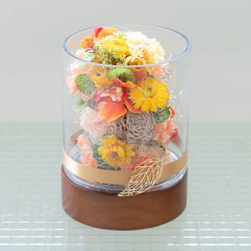 岡田哲哉氏制作 アーティフィシャルフラワーアレンジメント「シュシュ」