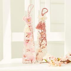 桜のハーバリウム【ピンク&サーモンピンク2個セット】