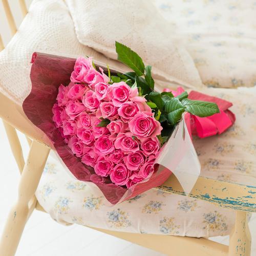 産地直送バラ花束(30本)ピンク系