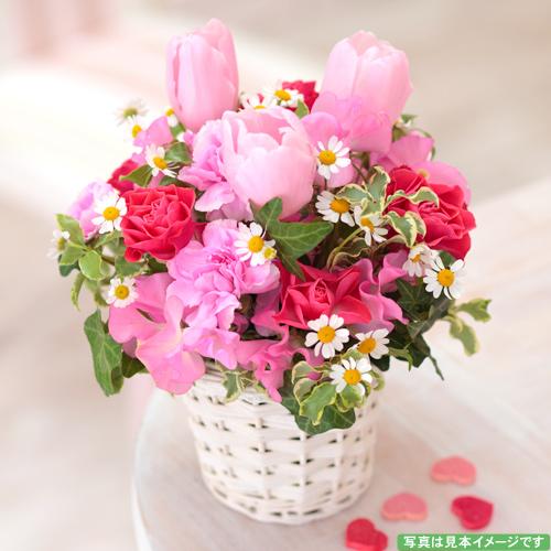 <フジテレビフラワーネット> ピンクの春色アレンジメント