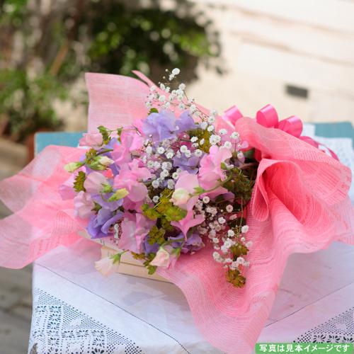 <フジテレビフラワーネット> ピンクと紫のスイートピーブーケ