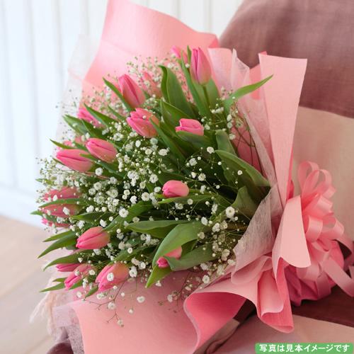 <フジテレビフラワーネット> チューリップのシンプルな花束