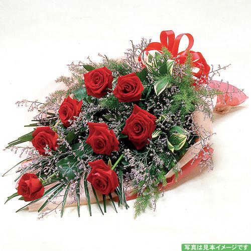<フジテレビフラワーネット> 赤いバラの花束