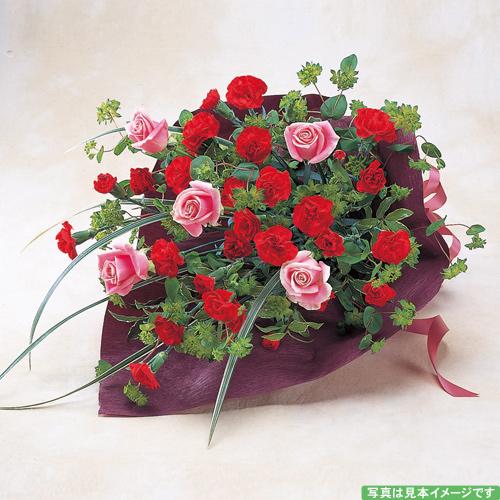 <フジテレビフラワーネット> 鮮やかな赤の花束