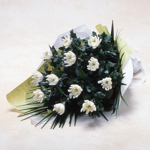 <フジテレビフラワーネット> 白菊の花束