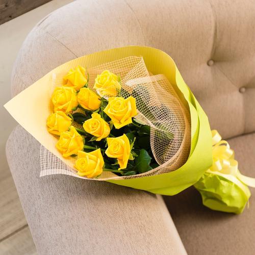 <フジテレビフラワーネット> 黄色いバラの花束
